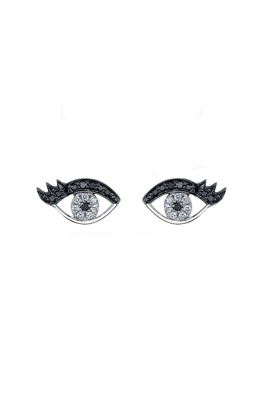 Eyelash Evil Eye Studs