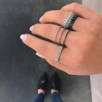 Crown Stack Ring-White Gold