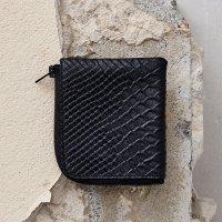 Half Zip Wallet-Black