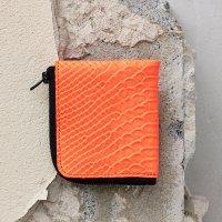 Half Zip Wallet-Neon Orange