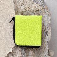 Half Zip Wallet-Neon Yellow