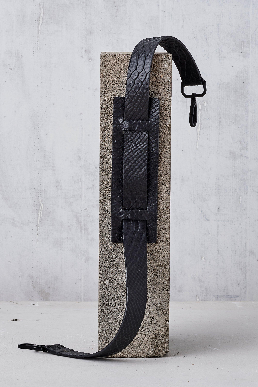 Leather Shoulder Strap-Black