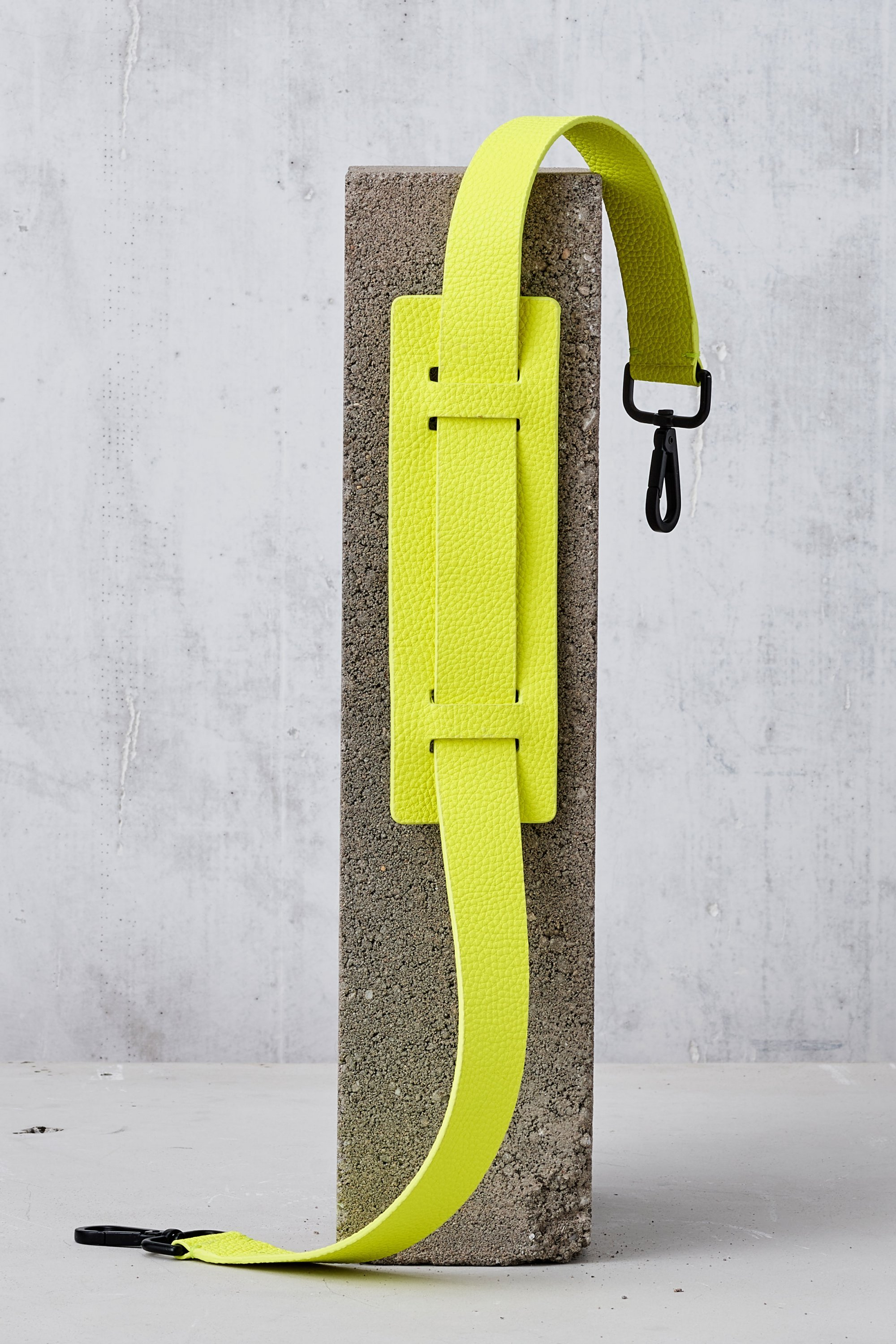 Leather Shoulder Strap-Neon Yellow